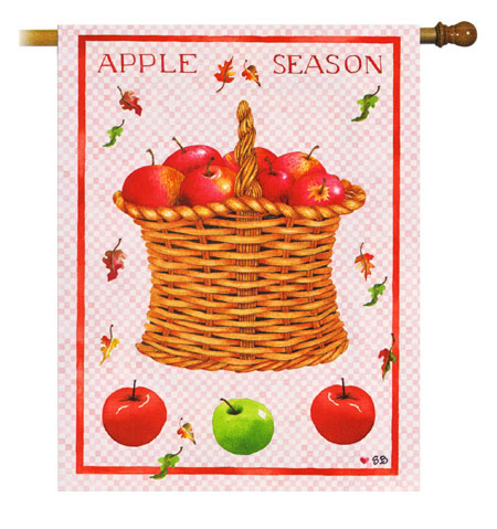 Apple Season Decorative Flag