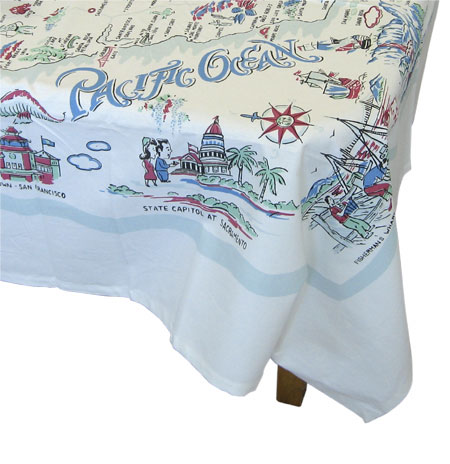 Retro California Print Tablecloth