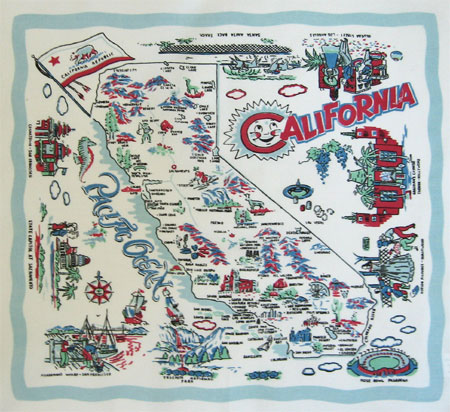 Retro California Print Napkin