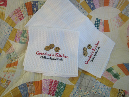 Grandma's Kitchen Embroidered Towels