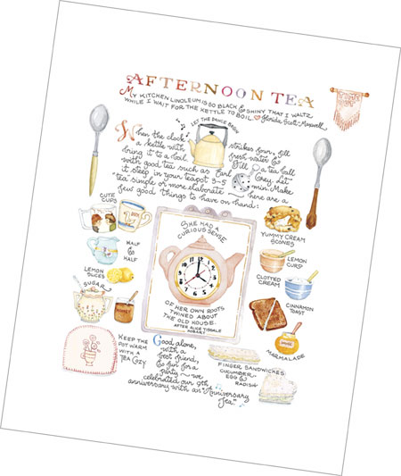 """Afternoon Tea"" Tea Party Print"