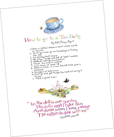 """How To Go To A Tea Party"" Tea Party Print"