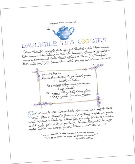 """Lavender Tea Cookies"" Tea Party Print"