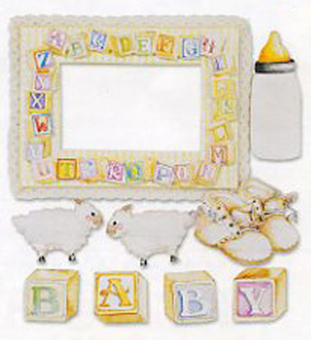 Baby Lambs Embellishments 3-pack