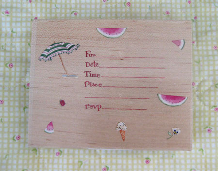 Summer Party Invitation Stamp