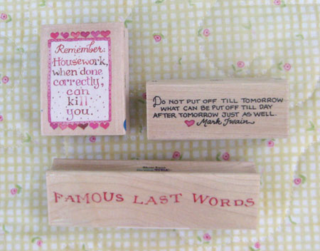 Famous Words Stamps