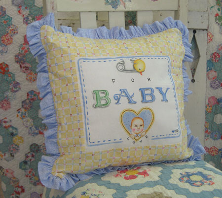 """For Baby"" Pillow Pattern"