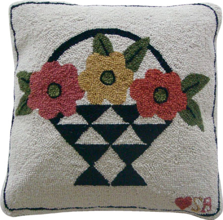 A Day for Flowers Pillow