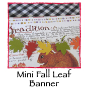Mini Fall Leaf Banner