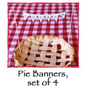 Pie Banners, set of 4 flavors