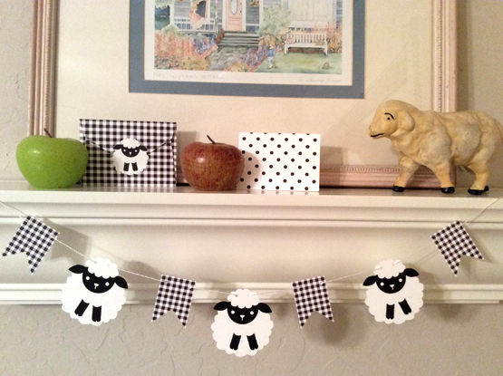 Black & White Sheep Banner
