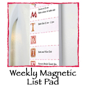 Weekly Magnetic List Pad