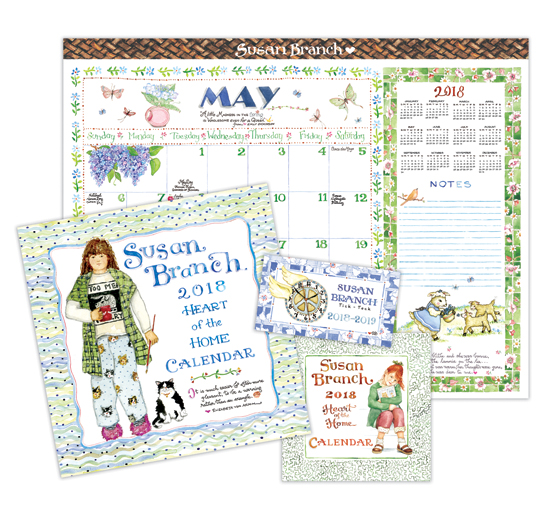 2018 Susan Branch Calendar Collection