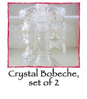 Star Bobeche, set of 2