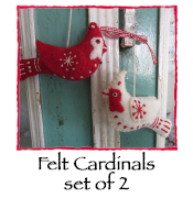 Felt Cardinals, set of 2
