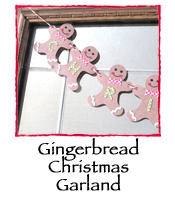 Gingerbread Christmas Garland