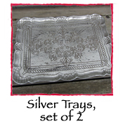 Silver Trays, set of 2