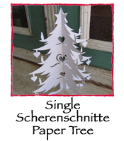 Single Scherenschnitte Paper Tree