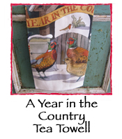 A Year in the Country Tea Towel