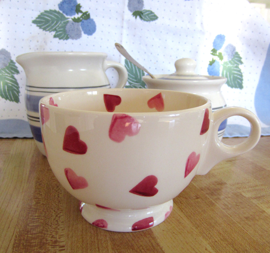 Breakfast Mug, Hearts