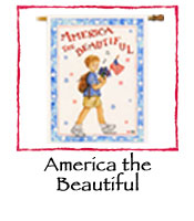 America the Beautiful Decorative Flag
