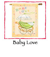 Baby Love Decorative Flag