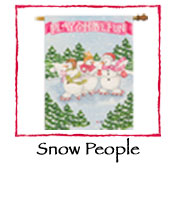 Snow People Decorative Flag
