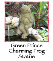 Green Prince Charming Frog Statue