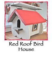 Red Roof Bird House