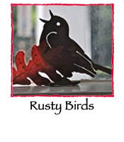 Three Rusty Birds