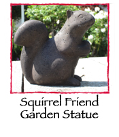 Squirrel Friend Garden Statue