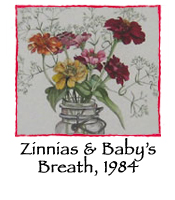Zinnias and Baby's Breath