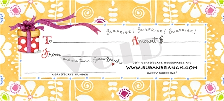 SusanBranch.com Gift Certificate