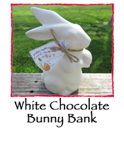 White Chocolate Bunny Bank