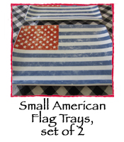 Small American Flag Trays, set of 2