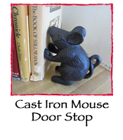 Cast Iron Mouse Door Stop