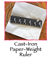 Cast-Iron Paper-Weight Ruler