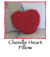 Chenille Heart Pillow