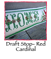 Draft Stop- Red Cardinal
