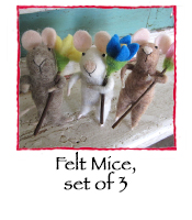 Felt Mice, set of 3