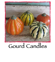 Gourd Candles- Set of 4