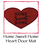 Home Sweet Home Heart Door Mat