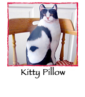 Kitty Doorstop Pillow