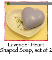 Lavender Heart Shaped Soap, set of 2