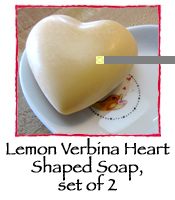 Lemon Verbina Heart Shaped Soap, set of 2