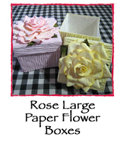 Rose Large Paper Flower Boxes