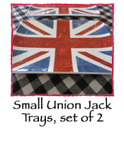 Small Union Jack Trays, set of 2