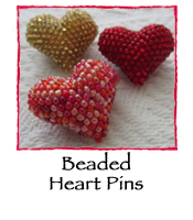Beaded Heart Pin