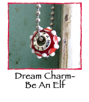 Glass Charm Bead- Be An Elf