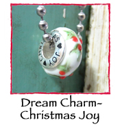 Glass Charm Bead- Christmas Joy